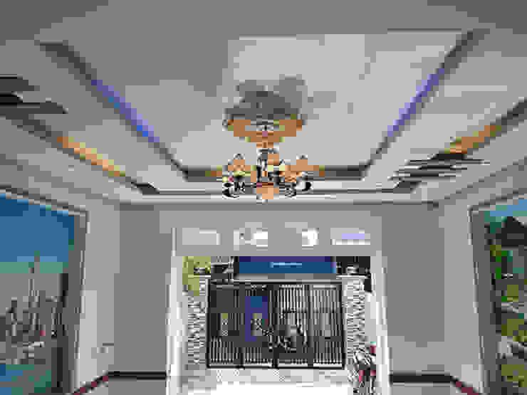 Đèn trần trang trí nhẹ nhàng. Phòng khách phong cách châu Á bởi Công ty TNHH TK XD Song Phát Châu Á Đồng / Đồng / Đồng thau
