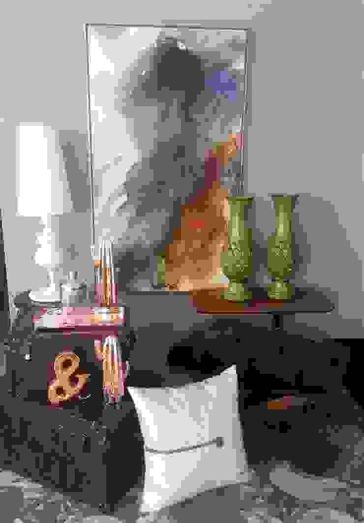 de Sgabello Interiores Moderno Textil Ámbar/Dorado