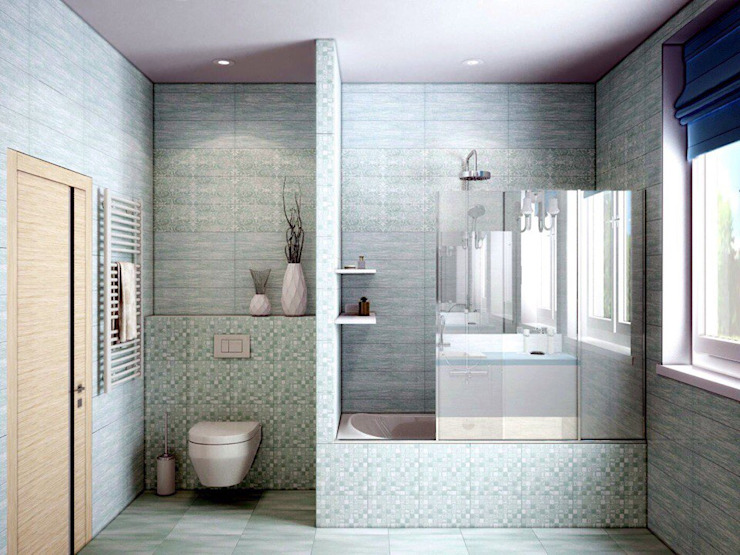 ДизайнМастер Eclectic style bathroom Grey