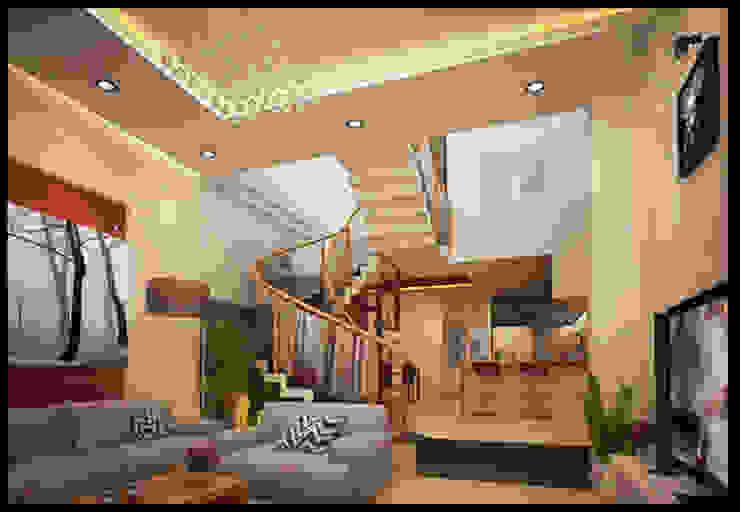 Phòng khách sang trọng với nội thất bài trí hài hòa bởi Công ty TNHH Xây Dựng TM – DV Song Phát Hiện đại