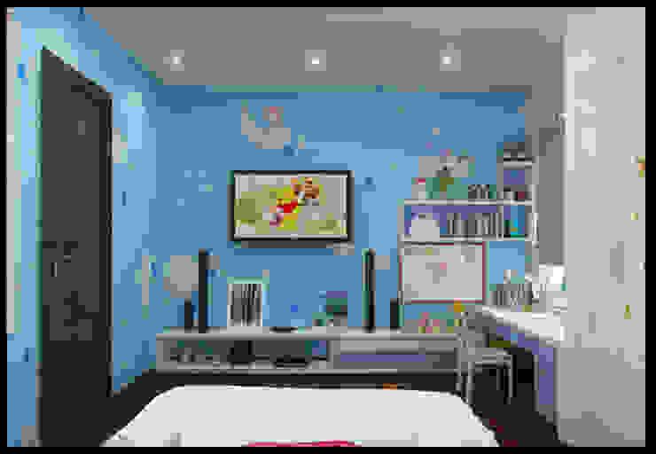 Phòng ngủ con gái với sắc xanh sinh động, vui tươi Phòng ngủ phong cách hiện đại bởi Công ty TNHH Xây Dựng TM – DV Song Phát Hiện đại