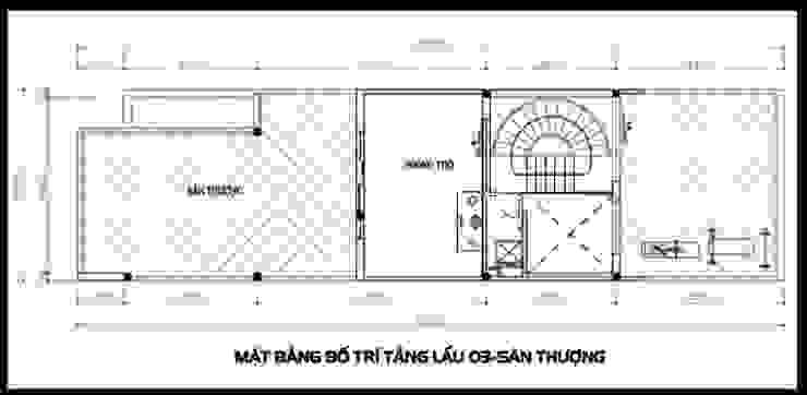 Bản vẽ thiết kế mặt bằng tầng 3 bởi Công ty TNHH Xây Dựng TM – DV Song Phát Hiện đại