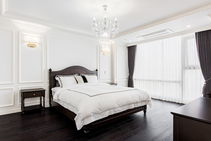 Classic style bedroom by wid design 위드디자인 Classic