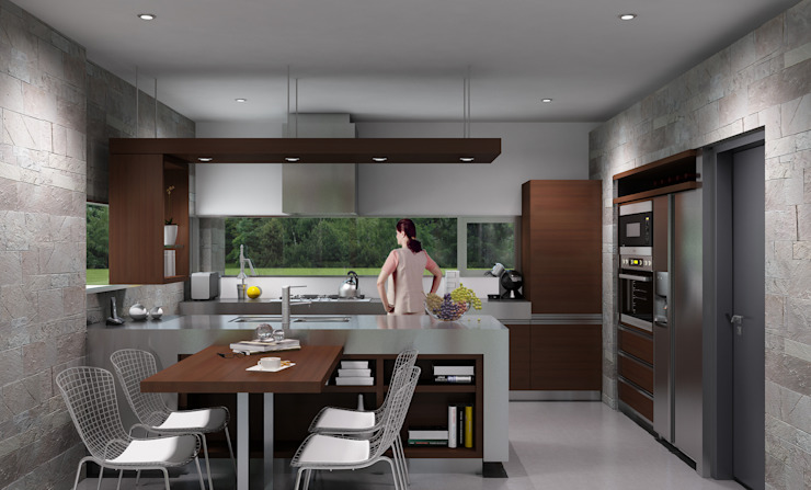Casa R-R de Estudio D3B Arquitectos Moderno Madera Acabado en madera