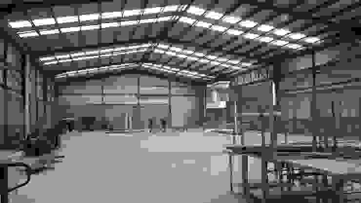 CESAR MONCADA S:  tarz Beşik çatı, Endüstriyel Cam
