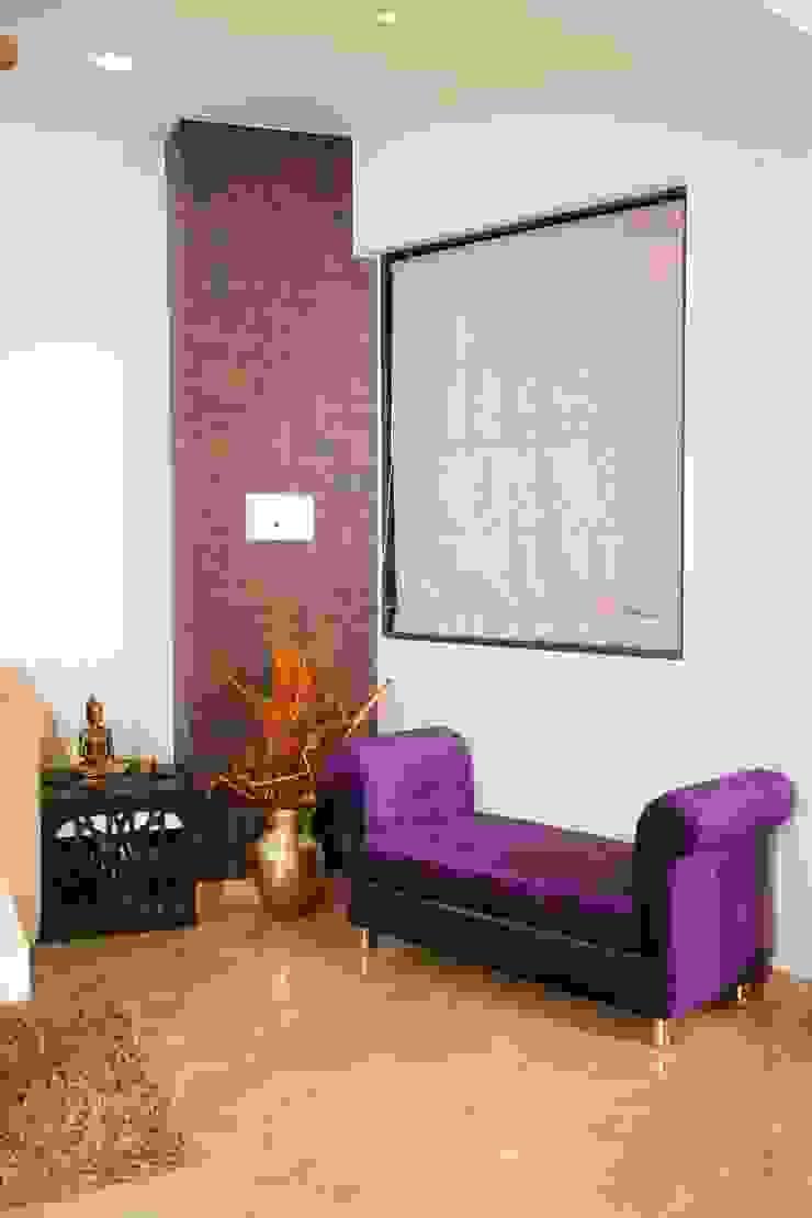 Mrs. Rama Vaidyananath Modern living room by Aesthetica Modern
