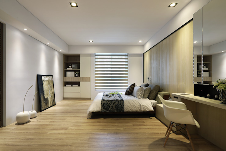 Eclectic style bedroom by 喬克諾空間設計 Eclectic