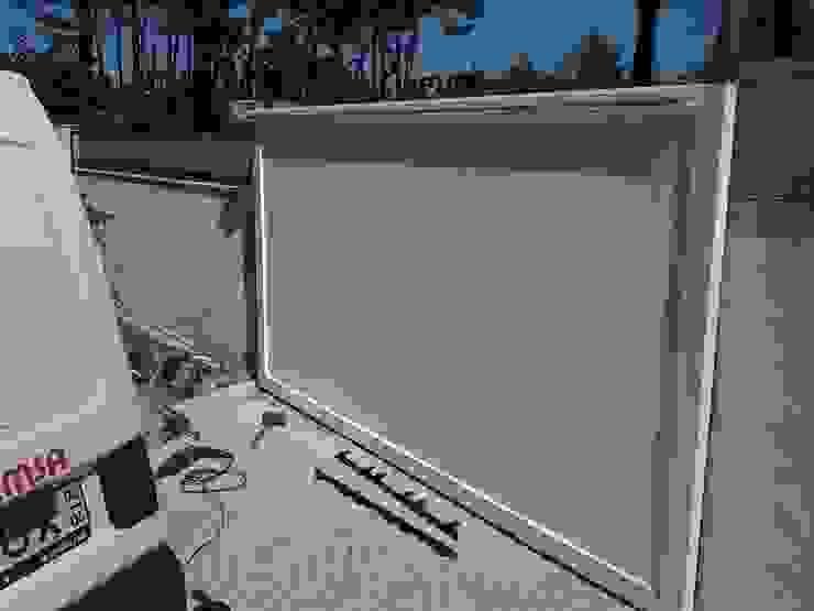 Bordalo Portas e Automatismos Sliding doors Aluminium/Zinc White