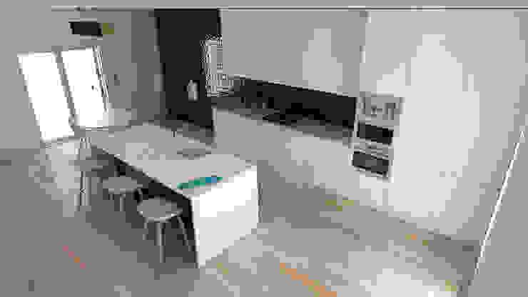 Remodelação de Apartamento em Benfica, Lisboa spacelovers Cozinhas modernas Branco