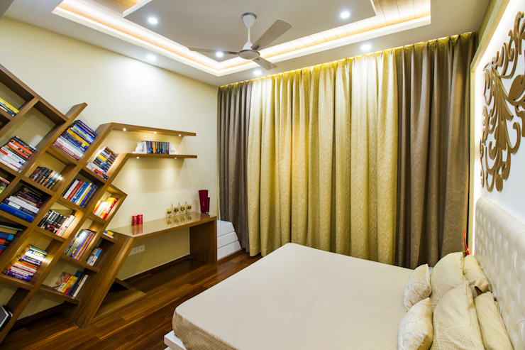 Study tabe homify Modern style bedroom