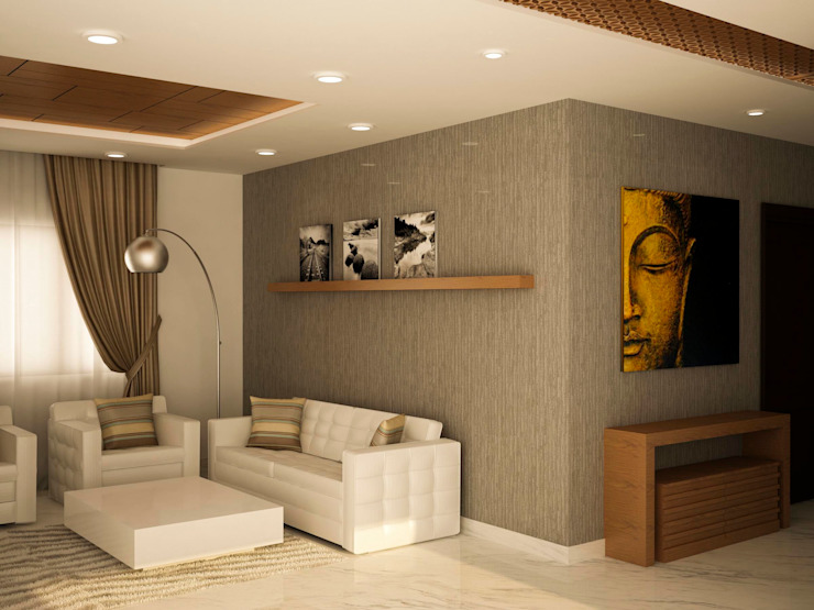 Simple living area by homify Asian