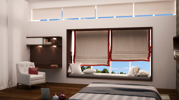 Window seating area Modern windows & doors by homify Modern