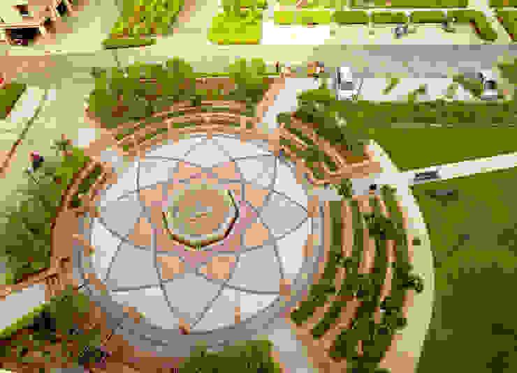 Rangoli Plaza Modern garden by NMP Design Modern