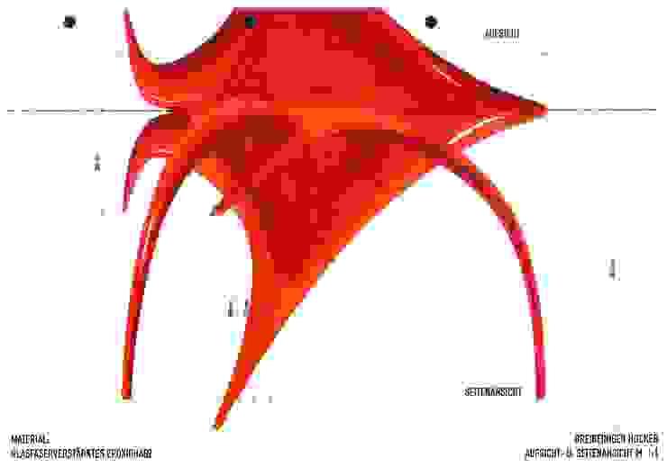 Zeichnung Hocker 1:1 schüller.innenarchitektur