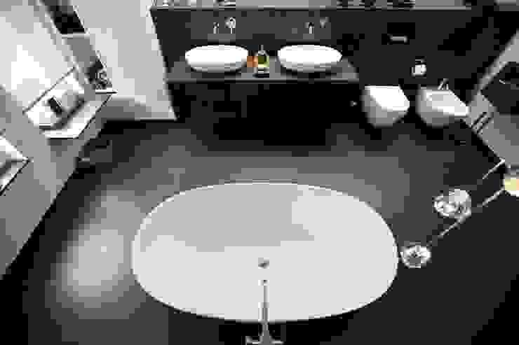 Masterbad mit Sauna Moderne Badezimmer von AID-Studio Modern