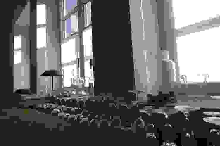 schüller.innenarchitektur Salon rustique Verre Transparent