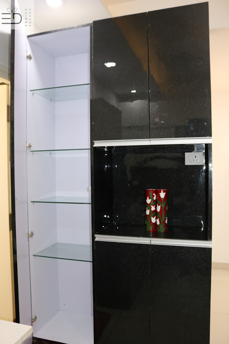 Tall Unit Internal Storage View by Enrich Interiors & Decors Modern Plywood