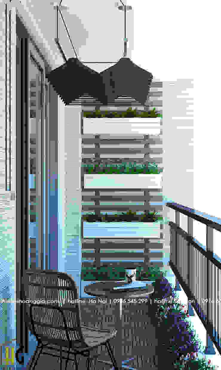 Thiết kế nội thất chung cư 55m cho chị Lan Anh Hành lang, sảnh & cầu thang phong cách hiện đại bởi Nội Thất Hoàng Gia Hiện đại