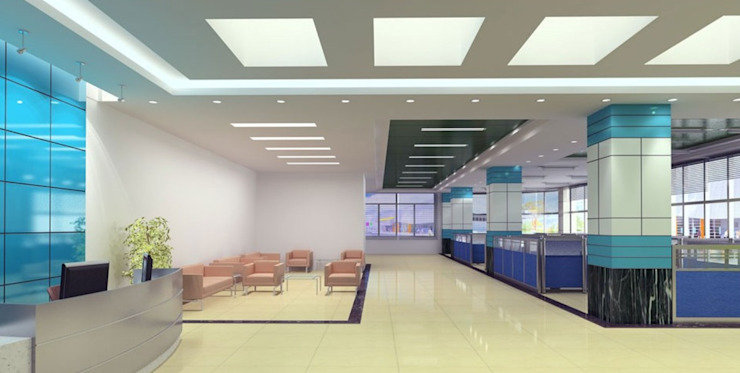 Office Modern study/office by Antarangni Interior p ltd Modern Engineered Wood Transparent