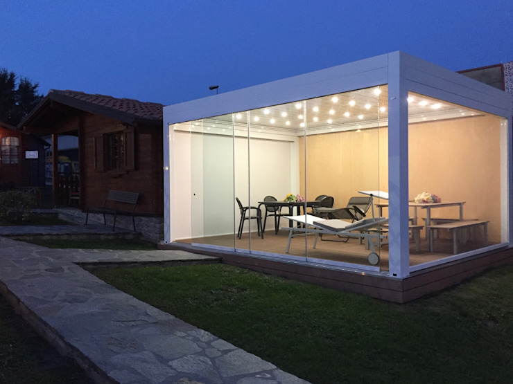 Svitavvita Snc Mediterranean style conservatory Aluminium/Zinc White