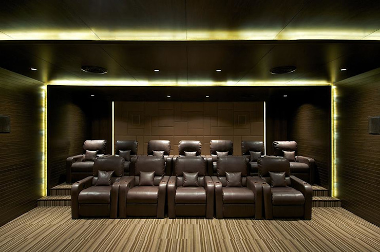Lodha Bellissimo Clubhouse Modern media room by Racheta Interiors Pvt Limited Modern