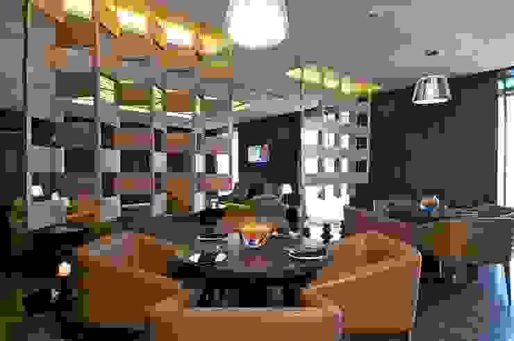Lodha Bellissimo Clubhouse Modern corridor, hallway & stairs by Racheta Interiors Pvt Limited Modern