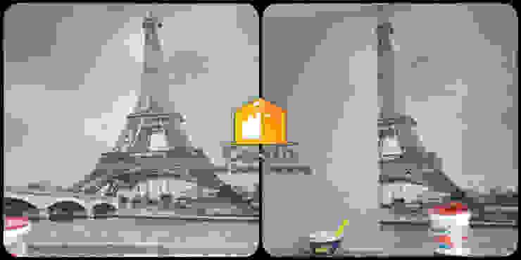 صور قبل وأثناء وبعد التشطيب مع كاسل من اعمال ورق الحائط من كاسل للإستشارات الهندسية وأعمال الديكور في القاهرة