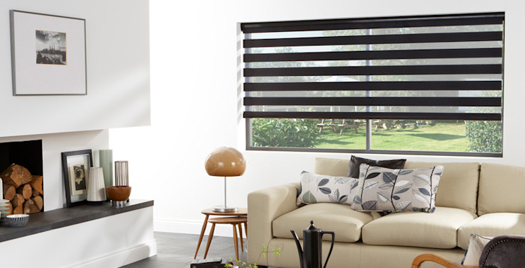 zebra roller blind: classic  by www.liyublinds.com, Classic Textile Amber/Gold