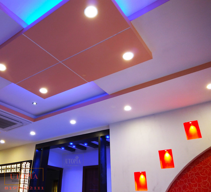 False ceiling design Utopia Interiors & Architect Modern corridor, hallway & stairs
