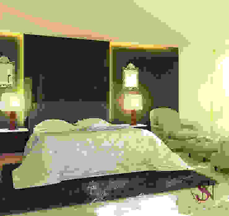 Apartment, Jubilee Hills:  Bedroom by Saloni Narayankar Interiors,