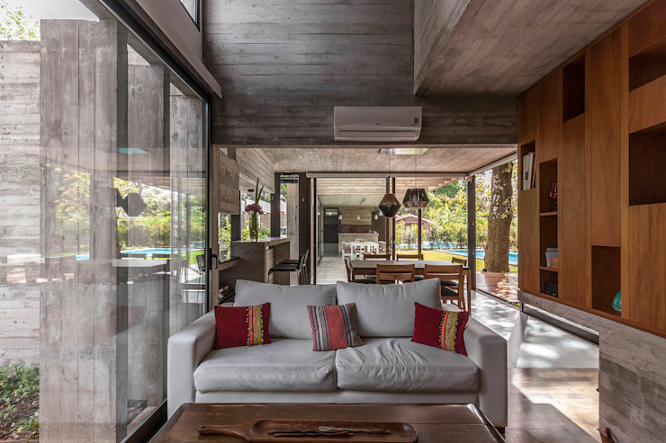 Modern living room by Besonías Almeida arquitectos Modern Concrete