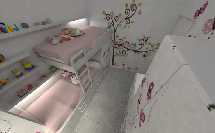 Girls Bedroom by Aida Tropeano & Asoc.,