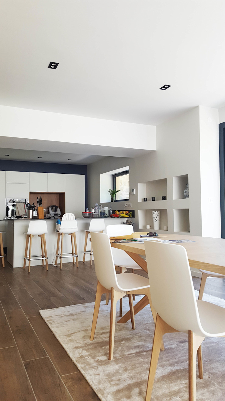 Maison à Landouge Jean-Paul Magy architecte d'intérieur Cuisine intégrée