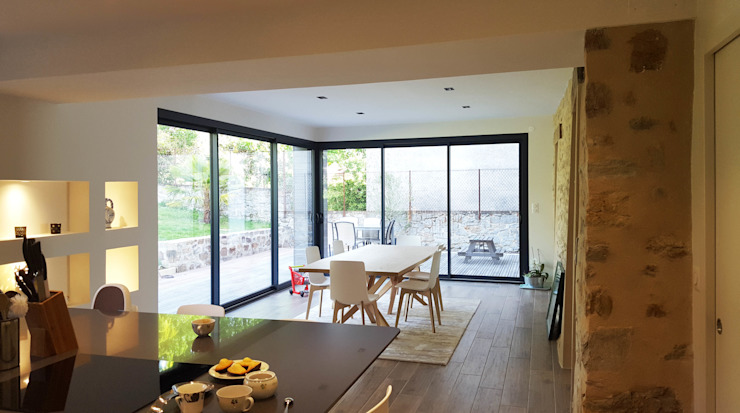 Maison à Landouge Jean-Paul Magy architecte d'intérieur Salle à manger moderne