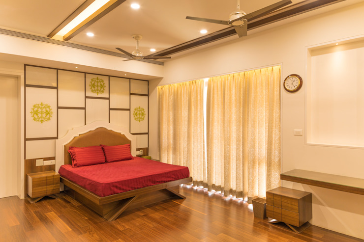 Indian style Modern style bedroom by homify Modern