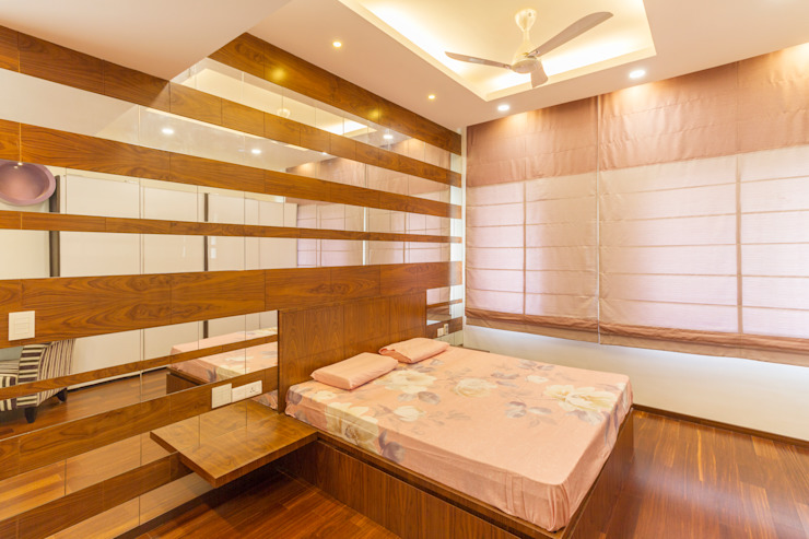 Roman binds Modern style bedroom by homify Modern