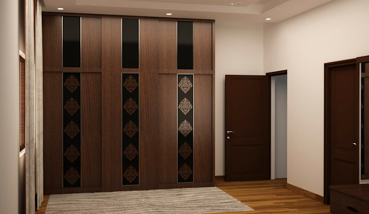 Sliding wardrobe Asian style bedroom by homify Asian