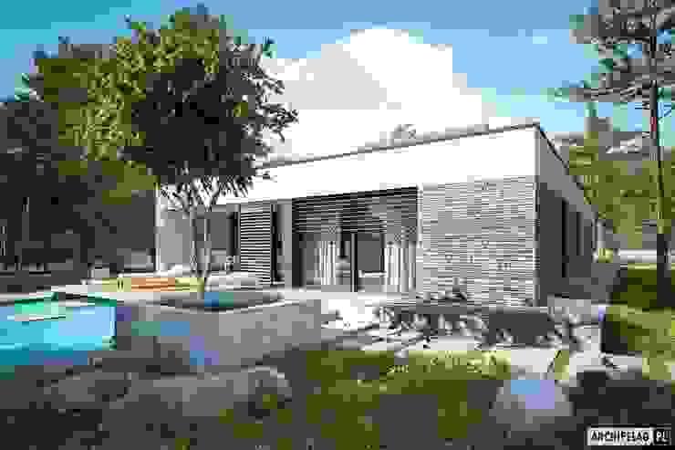 EX 21 G2 soft – dom, który stawia na oszczędną prostotę od Pracownia Projektowa ARCHIPELAG Nowoczesny