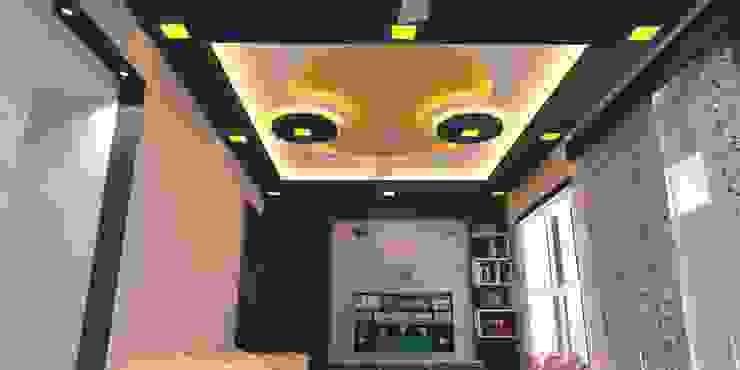 Shriyans Apartment Pune - Mr Ashish Modern living room by DECOR DREAMS Modern