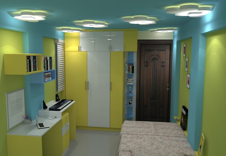 Shriyans Apartment Pune - Mr Ashish:  Nursery/kid's room by DECOR DREAMS,Modern