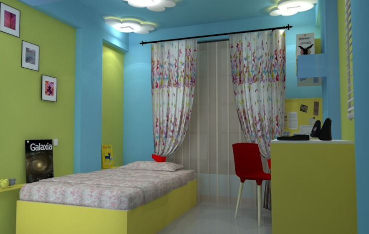 Shriyans Apartment Pune—Mr Ashish Modern nursery/kids room by DECOR DREAMS Modern