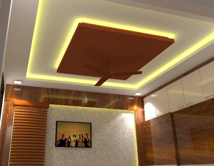 Shriyans Apartment Pune—Mr Ashish Modern style bedroom by DECOR DREAMS Modern