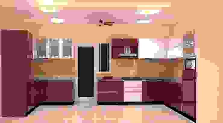 Amanora Park Pune - Pent House Modern kitchen by DECOR DREAMS Modern