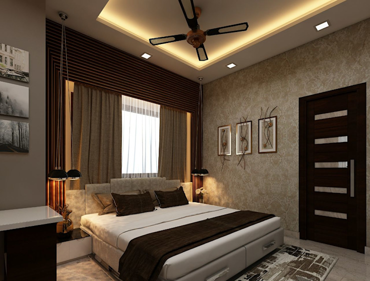 Amanora Park Pune - Pent House Modern style bedroom by DECOR DREAMS Modern