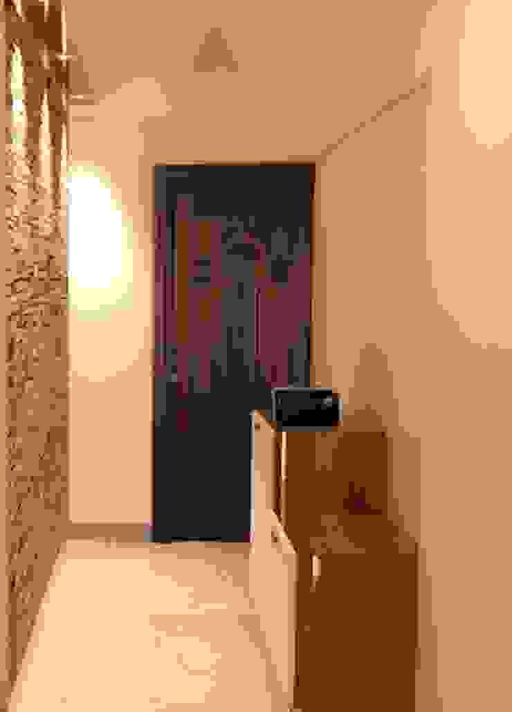 Amanora Park Pune—Pent House Modern corridor, hallway & stairs by DECOR DREAMS Modern