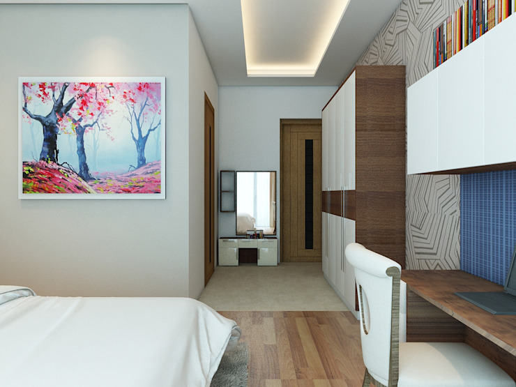 Amanora Park Pune—Pent House Modern style bedroom by DECOR DREAMS Modern