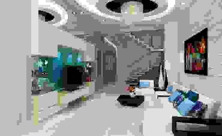 Phối cảnh nội thất tầng 1 bởi Công ty TNHH Xây Dựng TM – DV Song Phát Hiện đại