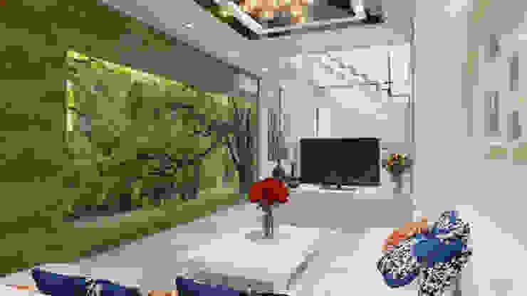 Phối cảnh nội thất tầng 2 bởi Công ty TNHH Xây Dựng TM – DV Song Phát Hiện đại