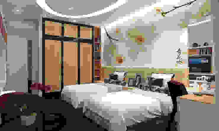 Phối cảnh nội thất tầng 2 Phòng ngủ phong cách hiện đại bởi Công ty TNHH Xây Dựng TM – DV Song Phát Hiện đại