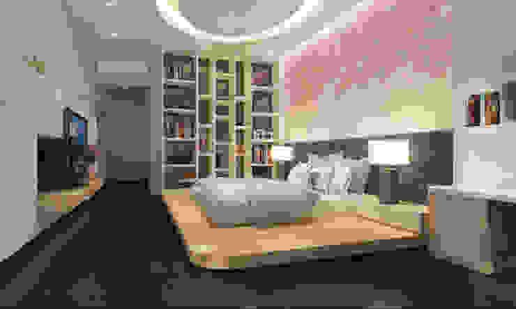Phối cảnh nội thất tầng 3 Phòng ngủ phong cách hiện đại bởi Công ty TNHH Xây Dựng TM – DV Song Phát Hiện đại